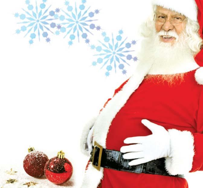 Santa Grabbing His Belly Royalty Free Stock Photo - Image: 11791495